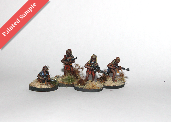 African Tribal Warriors with MGs