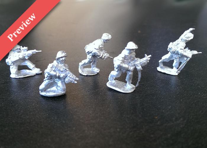 British Infantry Fireteam - Advancing