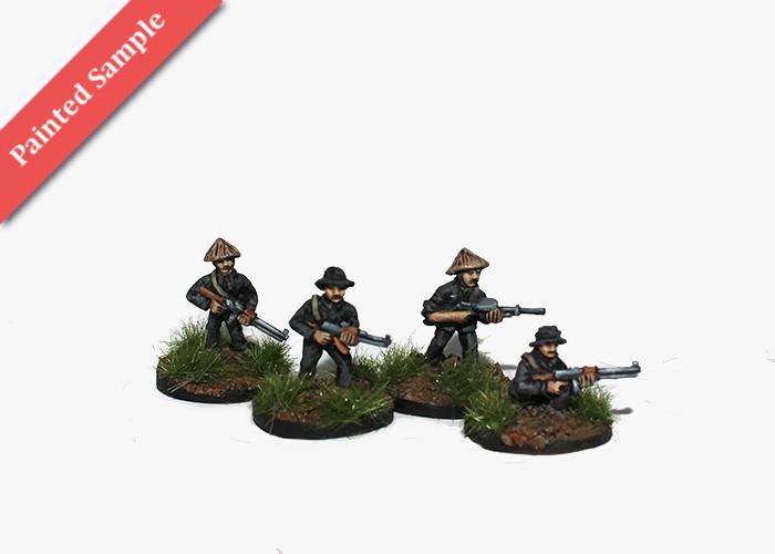 Vietcong with Light Machine Guns