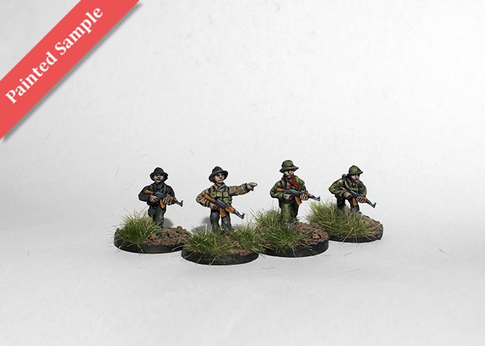 Vietcong with AK rifles